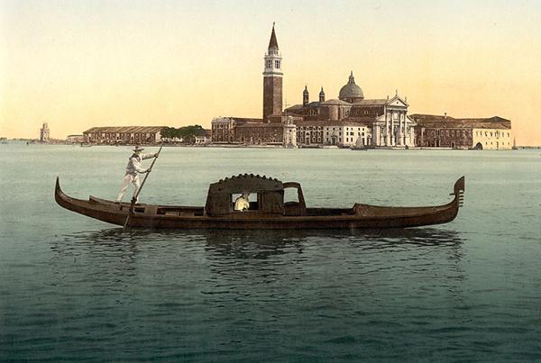 Isola San Georgio, Venice, Italy – Photochrom 3a