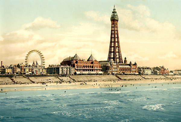 From North Pier, Blackpool, England – Photochrom 3b