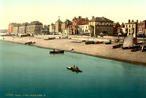 View from pier E, Deal, England – Photochrom 3d