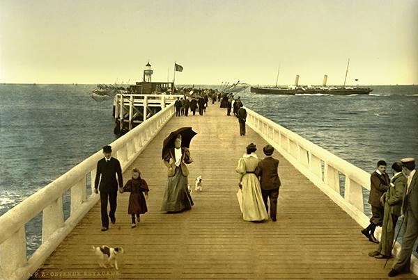 Pier, Ostend, Belgium – Photochrom 3e