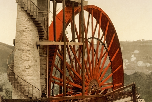 Laxey, the Wheel, Isle of Man – Photochrom 3h